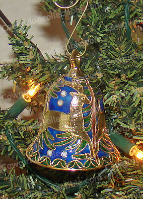 Reindeer Bell Christmas Ornament (4569) Hand-Crafted Baked Enamel