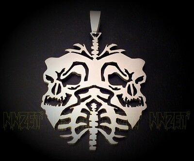 twiztid skull lungs charm 'new nightmare' era juggalo 2.5inch w Ball Chain 30.7""