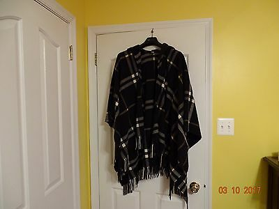 Burberry Cape Poncho Hooded House Check  Women's