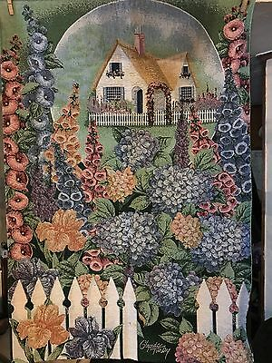 """""""Beautiful"""" Vintage Mixed Multi-color Needlepoint Tapestry - Glynda Turley"""