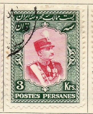 Middle East;  1929 Riza Pahlavi Issue Fine Used 3Kr. 140213