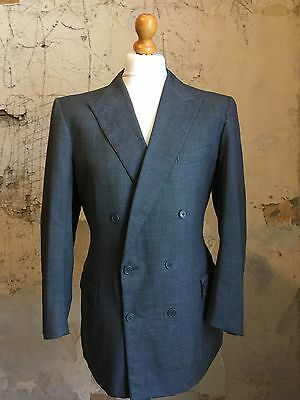 Vintage bespoke double breasted suit jacket size 40 42