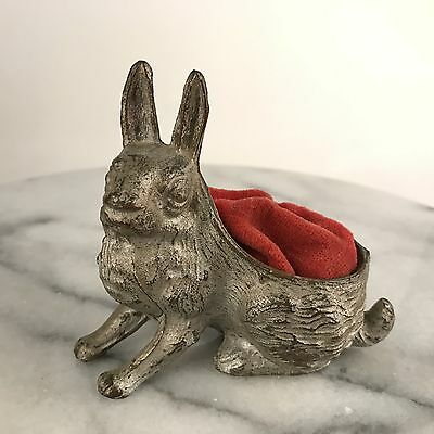 Antique Victorian Bunny Rabbit Pin Cushion