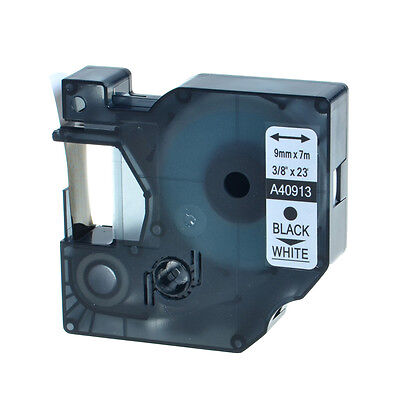 """High Quality 1PK 40913 Black on White Label Tape For DYMO D1 LabelManager 3/8"""""""