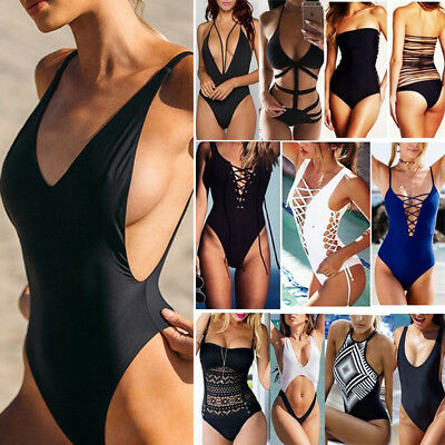 Women One Piece Monokini Swimsuit Swimwear Beachwear Push Up Bathing Bikini AP