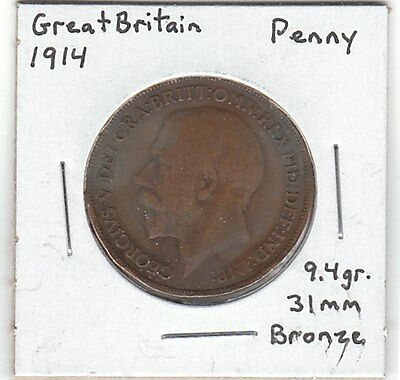 GREAT BRITAIN 1914 Penny coin - nice! - Ruler: Edward VII