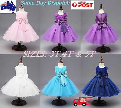 Girls Kids Dresses Princess Flower Sequins tutu Party Wedding Birthday .