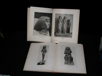 2 Vintage 1923 books Museum Antiquites Egyptian , text in German ,  Illustrated