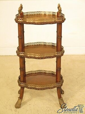 28683E: MAITLAND SMITH 3 Tiered Inlaid French Style Occasional Stand