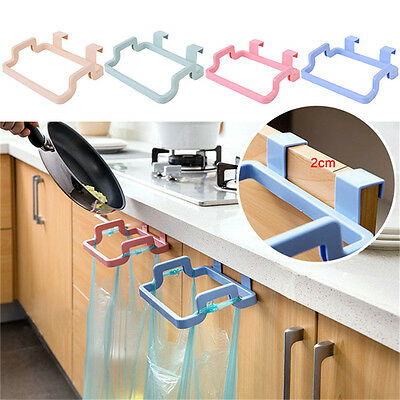 Garbage Bag Holder Plastic Bracket Stand Rack Kitchen Trash Storage Hanger Tools