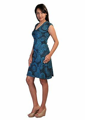 Women's Summer Half Sleeve Summer Dress With Back Tie Design