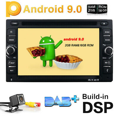 Android 6.0 Double 2Din Dash Car Radio Stereo DVD Player GPS Nav OBD BT WiFi HD