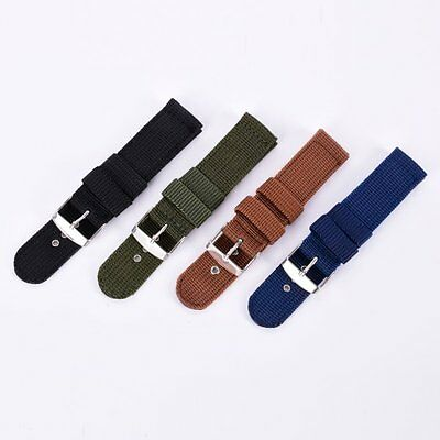 Men's Military Army Band Nylon canvas Strap Wrist Watch Bracelets de montres