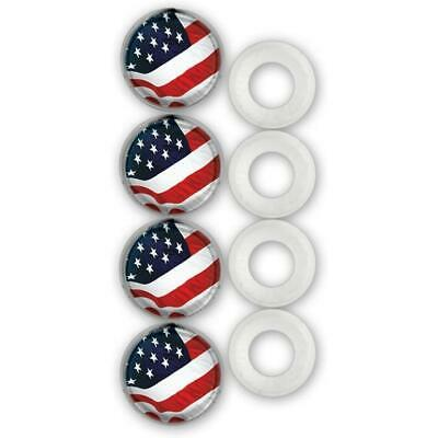 Cruiser Accessories License Plate Frame Fastener Caps USA Flag 82300