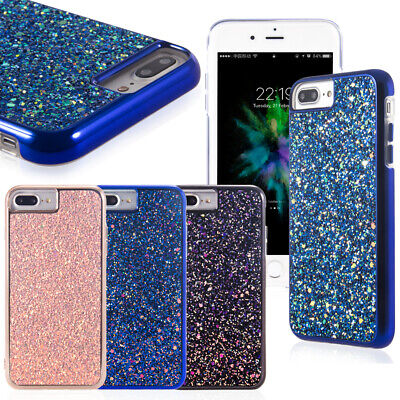 Luxury Bling Sparkle Glitter Sequin Strap Soft case Cover for iPhone 8/7 Plus