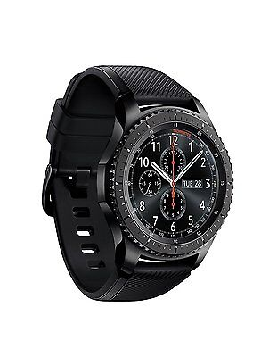 Samsung Galaxy Gear S3 Frontier Black Smartwatch SM-R760 Watch Wi-Fi Bluetooth