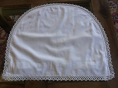 TAIE13/ Ancienne Taie d'oreiller bébé dentelle OLD COTTON & lace BABY PILLOWCASE