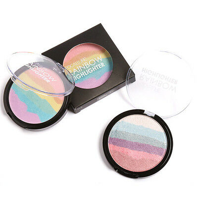 Arc en Ciel Highlight Powder Rainbow Visage Highlighter Shimmer Fard à Paupières