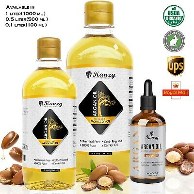 Organic Argan Oil for Hair Face Skin Nails 120ml Moroccan essential Beauty Oil