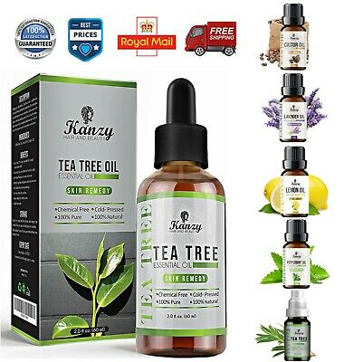 Pure Tea tree Oil 60ml for Hair Face Skin Nails Australian essential Beauty oil