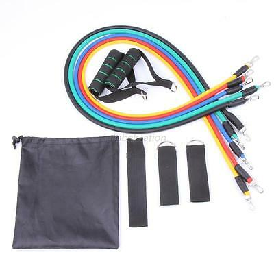 Resistance Band Loop Exercise Yoga Fitness Home Gym Training Bands Abs Tube Set