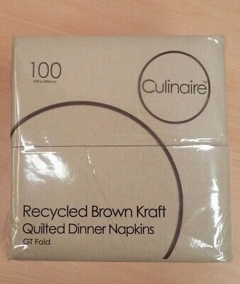 Recycled Kraft Brown Culinaire Quilted Dinner Napkins Pk 100