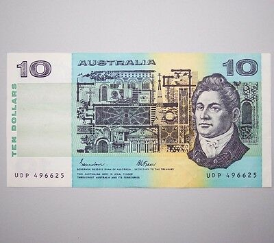 1985 Australian Paper Bank Note $10 Ten Dollar Johnston Fraser R309 UDP