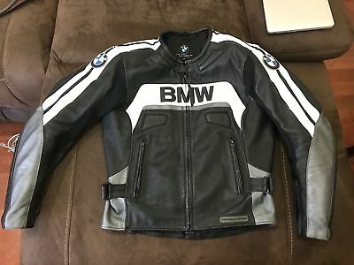 BMW Riding Motorcycle Leather Jacket Sports Motorbike Cruiser MotoGp Jacket
