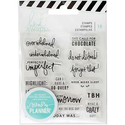 Day Stamps Heidi Swapp Clear Set  Memory Planner Scrapbooking Words & Phrases