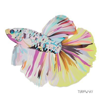 "VIBRANT FISH YELLOW PINK WHITE 3-PLY 20 PAPER NAPKINS SERVIETTES 13""x13""–33X33CM"