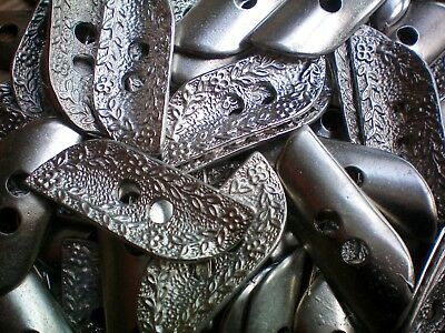 48mm Antique Silver Effect Flower Leaf Metal 2 Hole Coat Costume Buttons (XM31)