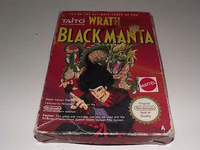 Wrath of the Black Manta Nintendo NES Boxed PAL Preloved *No Manual*