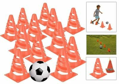 Set of 8 Traffic Marking Cones Kids Football Training Practice Boundary Markers