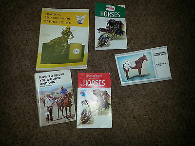 Vintage HORSE BOOK LOT 5   Barrel Racing Appaloosa Show & Win   Booklets