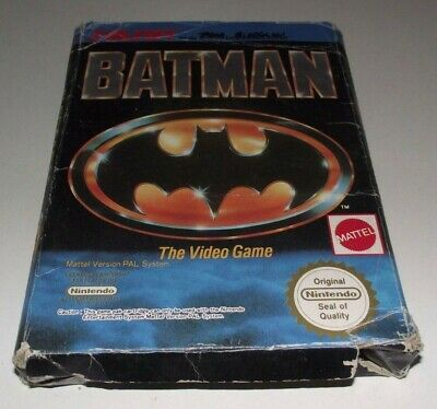 Batman The Video Game Nintendo NES Boxed PAL Preloved *No Manual*