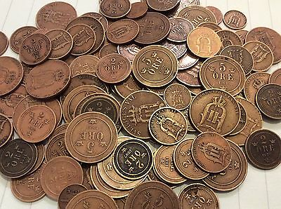 Swedish coins , 1-2-5 ore . buy 2 lot and get 1 Lot for free