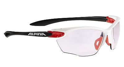 Alpina Twist Four VLM+ Sportbrille Sonnenbrille Fahrrad Bike - white red black