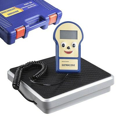220 lbs Digital Refrigerant Charging Weight Recovery Scale for HVAC with Case