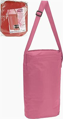 6.5L Pink Insulated 2 Bottle Cooler Bag Ice Box Summer Camping Picnic Coolbag