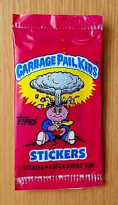 Garbage Pail Kids UK Series 1 (1985) RARE Sealed Sticker Pack ~ Vintage ~ Topps
