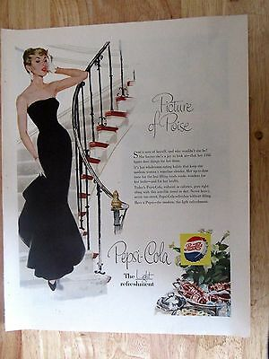 1950s Pepsi Cola Picture of Poise Vintage Print Ad