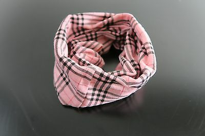 Baby Scarf Baby Bibs Infinity Shawl Neckerchief Pink plad