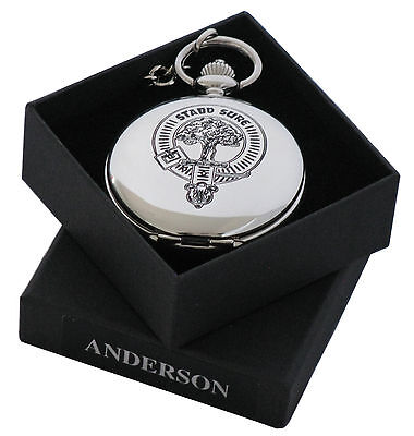 Clan Crest Engraved Pocket Watch in Gift Box -  50+ crests MacE-Y