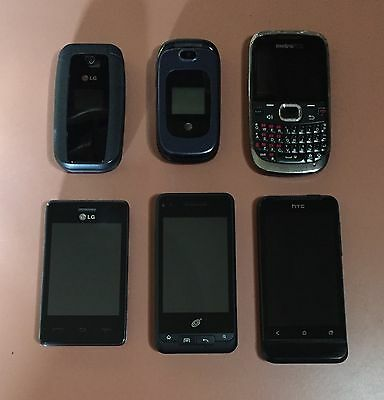 Lot Of 6 Cell Phones