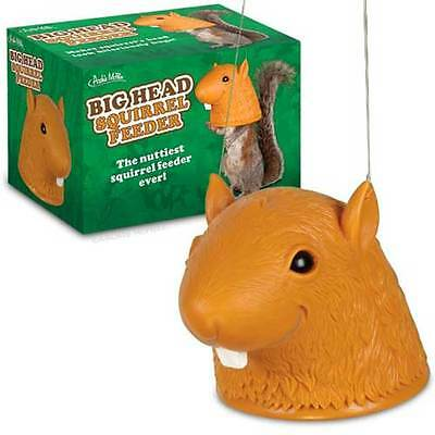 Squirrel Head Feeder Garden Ornament Funny Nuts Gift Gardener Wildlife Novelty