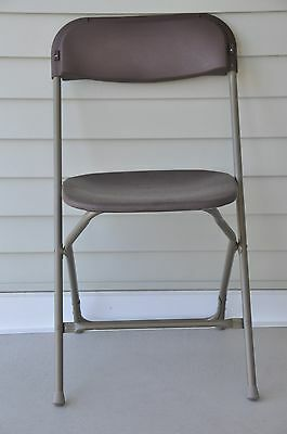 10 Commercial Plastic Folding Chairs Brown Stackable Party Chair SUMMER SALE