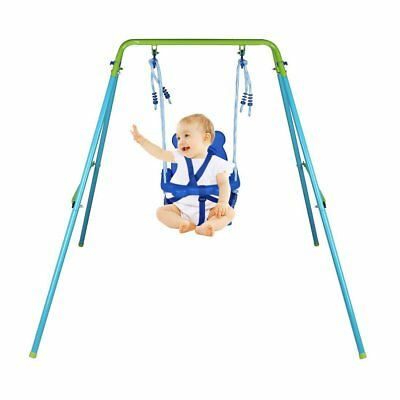 Folding Toddler Baby Swing With Seat Kids Best Gift Garden Yard Outdoor Play Toy