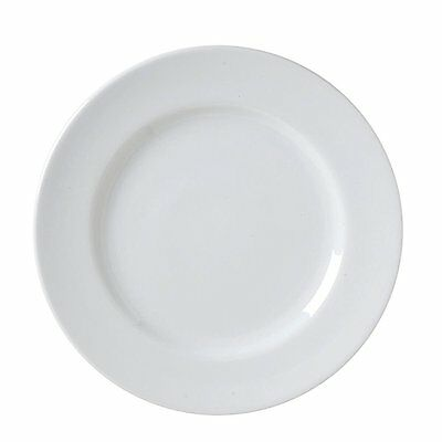 "9 Vertex 6.5"" Alpine China White Plates Dessert Restaurant Wholesale Bulk Lot"