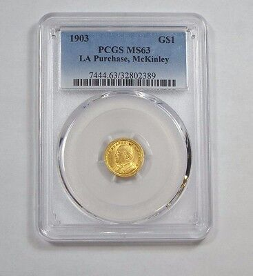 1903 Louisiana Purchase/McKinley Exposition Commemorative GOLD $1 PCGS MS 63