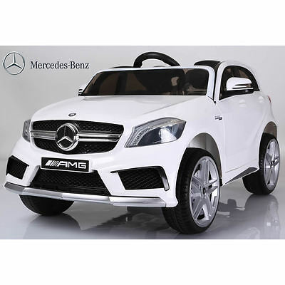 Licensed Mercedes A45 SUV 12v Kids Electric Ride on Car with Remote - White